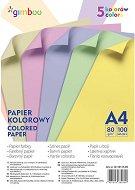 Цветна хартия формат А4 - Комплект от 100 листа
