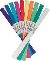 Цветна креп хартия - Комплект от 10 ролки с размери 25 x 200 cm