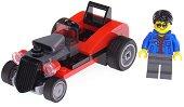 """Ретро автомобил - Детски конструктор от серията """"LEGO: City"""" - играчка"""