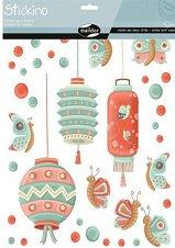 Стикери за декорация - Пеперуди и фенери