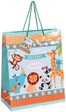 Торбичка за подарък - Животните в зоопарка - фигура