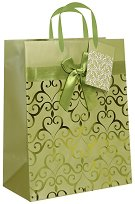 Торбичка за подарък - Сърца - Размери 18 x 23 cm - продукт