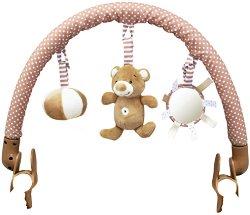 Арка с висящи играчки - Bear Boo - За детска количка или кошче за кола -
