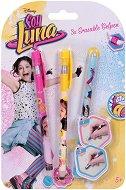 Изтриваеми цветни гел химикалки с гума - Soy Luna - Комплект от 3 цвята