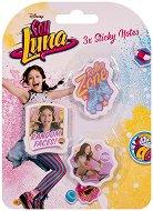 Самозалепващи листчета - Soy Luna - Комплект от 3 кубчета