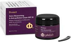 """Philab Protect Extra Moisturising & Anti-pollution Cream - SPF 25 - Защитен и силно хидратиращ дневен крем за лице за суха кожа от серията """"Protect"""" -"""