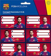 Етикети за тетрадки - ФК Барселона - Комплект от 18 броя - несесер