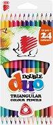 Двувърхи цветни моливи - Комплект от 24 или 36 цвята