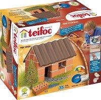 """Малка къща - Детски сглобяем модел от истински тухлички от серията """"Teifoc: Starter"""" - макет"""