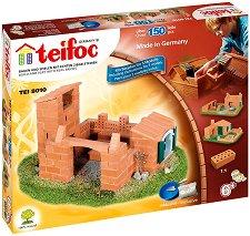 """Къща крепост - 3 в 1 - Детски сглобяем модел от истински тухлички от серията """"Teifoc: Classic"""" - макет"""