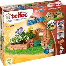 """Малка градина - 2 в 1 - Детски сглобяем модел от истински тухлички от серията """"Teifoc: Classic"""" - макет"""