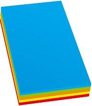 Цветен копирен картон - Комплект от 100 листа в 5 цвята с формат A4