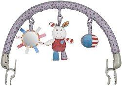 Арка с висящи играчки - Магаренцето Франки - За детска количка или кошче за кола -