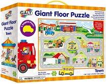 Голям пъзел за под - Град - играчка