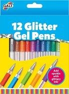 Блестящи гел химикалки - Комплект от 12 цвята