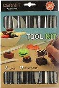 Инструменти за моделиране на полимерна глина - Комплект от 8 броя