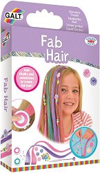 Аксесоари за коса - Модерна прическа - Комплект от тебешири за коса, мъниста и цветни кичури -