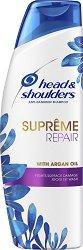 """Head & Shoulders Supreme Repair Anti-Dandruff Shampoo - Възстановяващ шампоан против пърхот с арганово масло от серията """"Supreme"""" - шампоан"""
