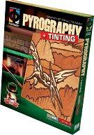 """Създай дървена гравюра - Хищен птеродактил - Творчески комплект за пирографиране от серията """"Pyrography"""" -"""