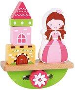 Принцеса и замък - Дървена играчка за баланс - творчески комплект