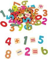 Магнитни цифри и знаци - Детски образователен комплект от дърво - продукт