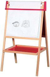 Учебна дъска - 3 в 1 - Комплект с хартиена ролка, тебешири и гъба - играчка