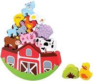 Ферма с животни - Детска игра за баланс с дървени елементи -