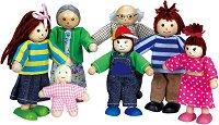 Семейство - Комплект от 7 броя дървени кукли - играчка