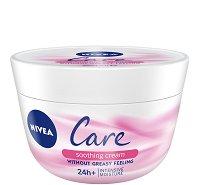 Nivea Care Soothing Cream - Успокояващ крем за лице и тяло за чувствителна и суха кожа - балсам