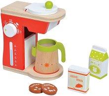 Кафемашина - Дървен комплект за игра - играчка