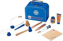 Докторско куфарче - Дървен комплект за игра - играчка