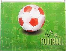 """Папка с цип - Формат А4 от серията """"Life is Football"""""""