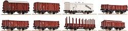 Товарни вагони използвани от Германските федерални железници - ЖП модели - комплект от 8 броя -