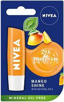 Nivea Mango Shine Lip Balm - Балсам за устни с аромат на манго - гел