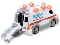 Линейка с отваряща се врата и носилка - Детска играчка със звуков и светлинен ефект - фигура