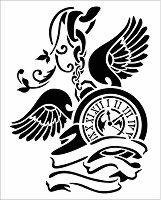 Шаблон - Часовник - Размери 20 х 25 cm