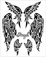 Шаблон - Ангелски крила - Размери 20 х 25 cm