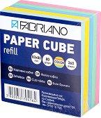 Цветно хартиено кубче - Кубче от 360 листчета с размери 8.3 x 8.3 cm