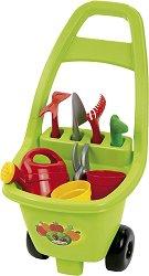 Детска градинарска количка с инструменти -