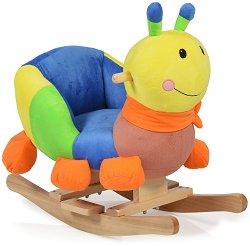Детска дървена люлка - Caterpillar -