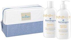 Подаръчен комплект с несесер - Barnangen Nutritive - Душ крем и лосион за тяло - дезодорант