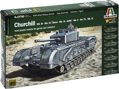 Британски танк - Churchill Mk. III / IV / AVRE / NA75 - Сглобяем модел -
