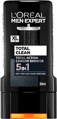 L'Oreal Men Expert Total Clean 5 in 1 Carbon Shower - продукт