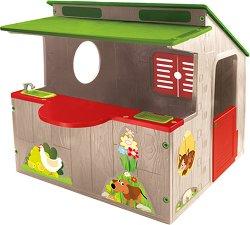 Детска сглобяема къща за игра с кухня - играчка