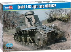 Съветски лек танк - T-18 Light Tank MOD1927 - Сглобяем модел -