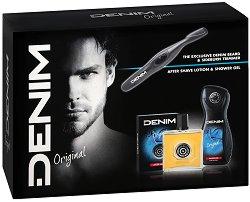 Подаръчен комплект - Denim Original - Афтършейв, душ гел и електрически тример -