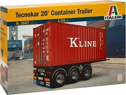 Ремарке с контейнер - Tecnokar 20 - Сглобяем модел -