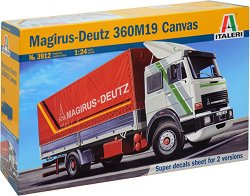 Германски камион - Magirus - Deutz 360M19 Canvas - Сглобяем модел -