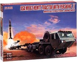 Американски военен влекач с насочващ механизъм за ракети - USA M983 HEMTT With Pershing II -