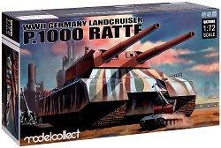 Германски супер тежък танк - Landcruiser P.1000 Ratte - Сглобяем модел -